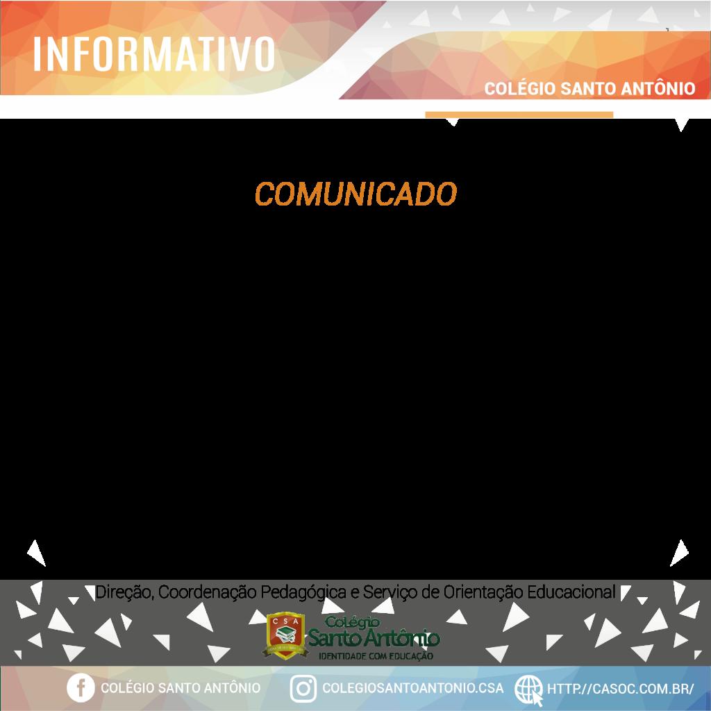 REUNIÃO DE PAIS – Ginásio Colégio Santo Antônio