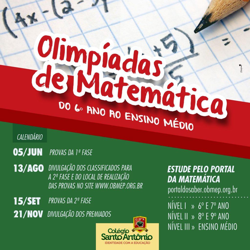 Olimpíadas de Matemática 2018