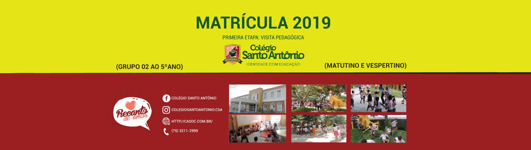 Matrícula 2019