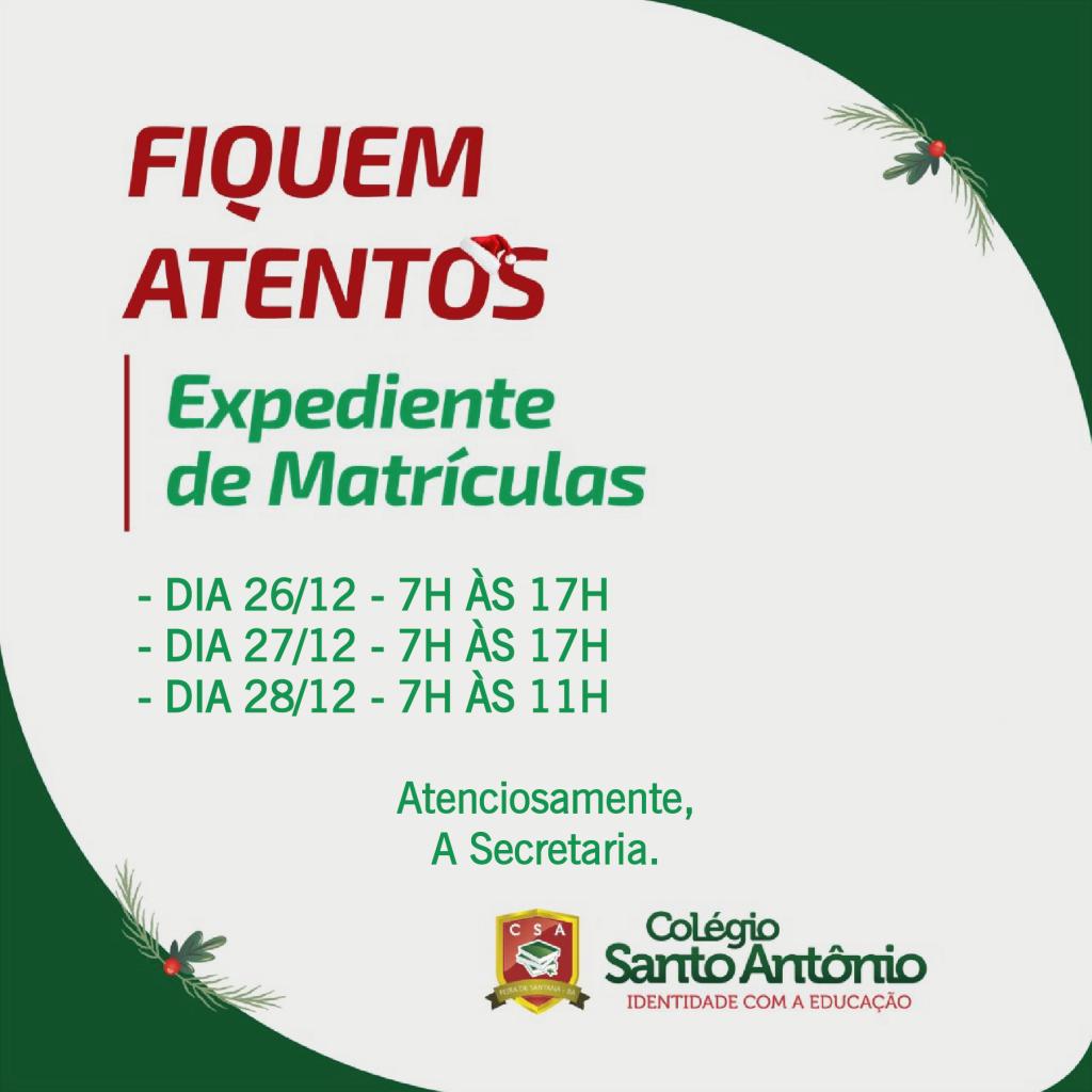 ATENÇÃO – FIQUEM ATENTOS!