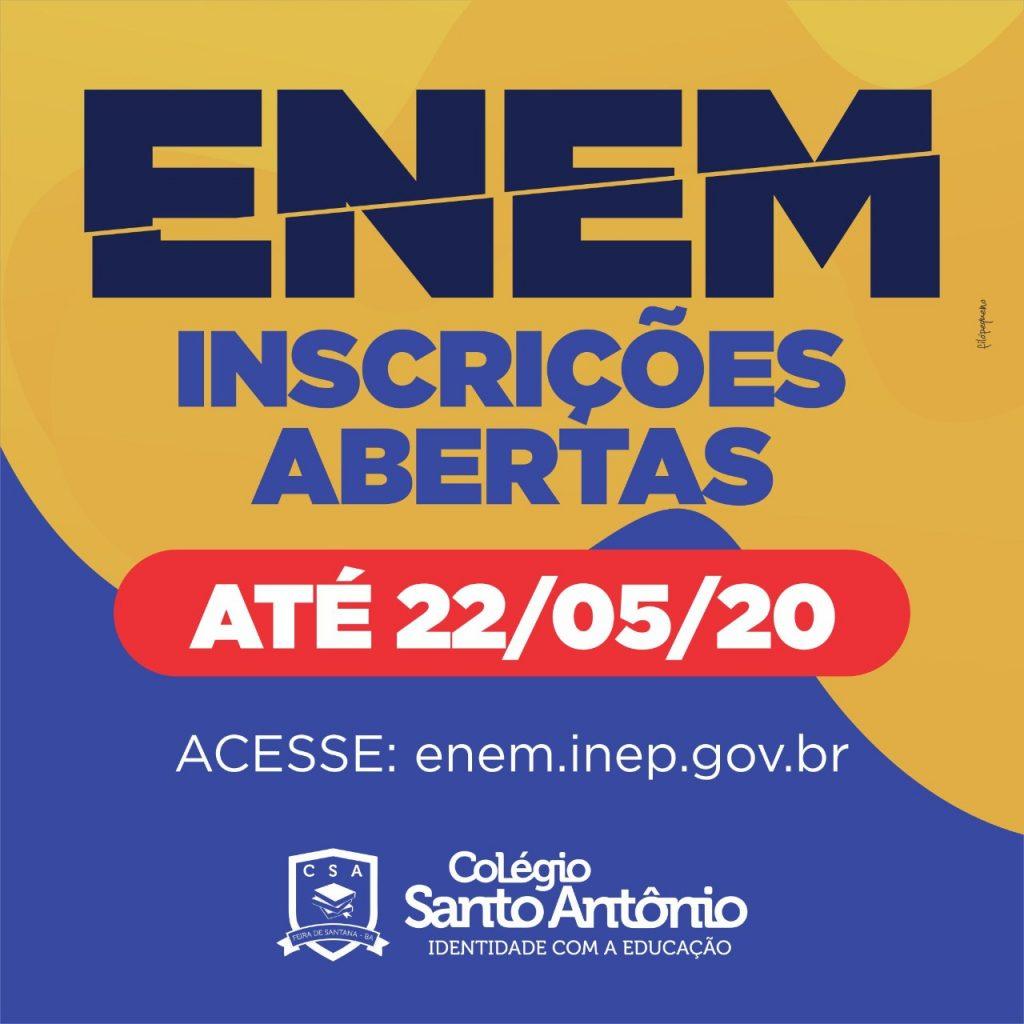 ENEM – Inscrições Abertas