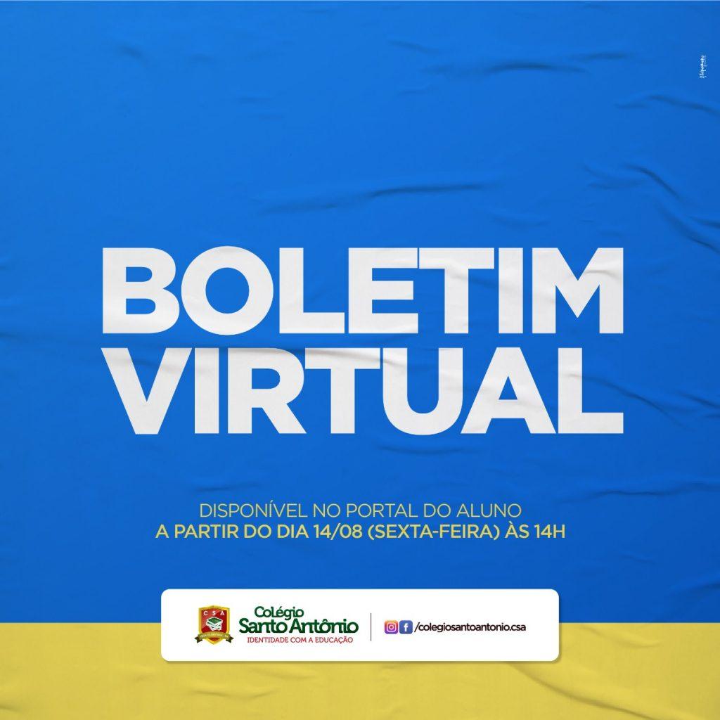 Boletim Virtual – DISPONÍVEL