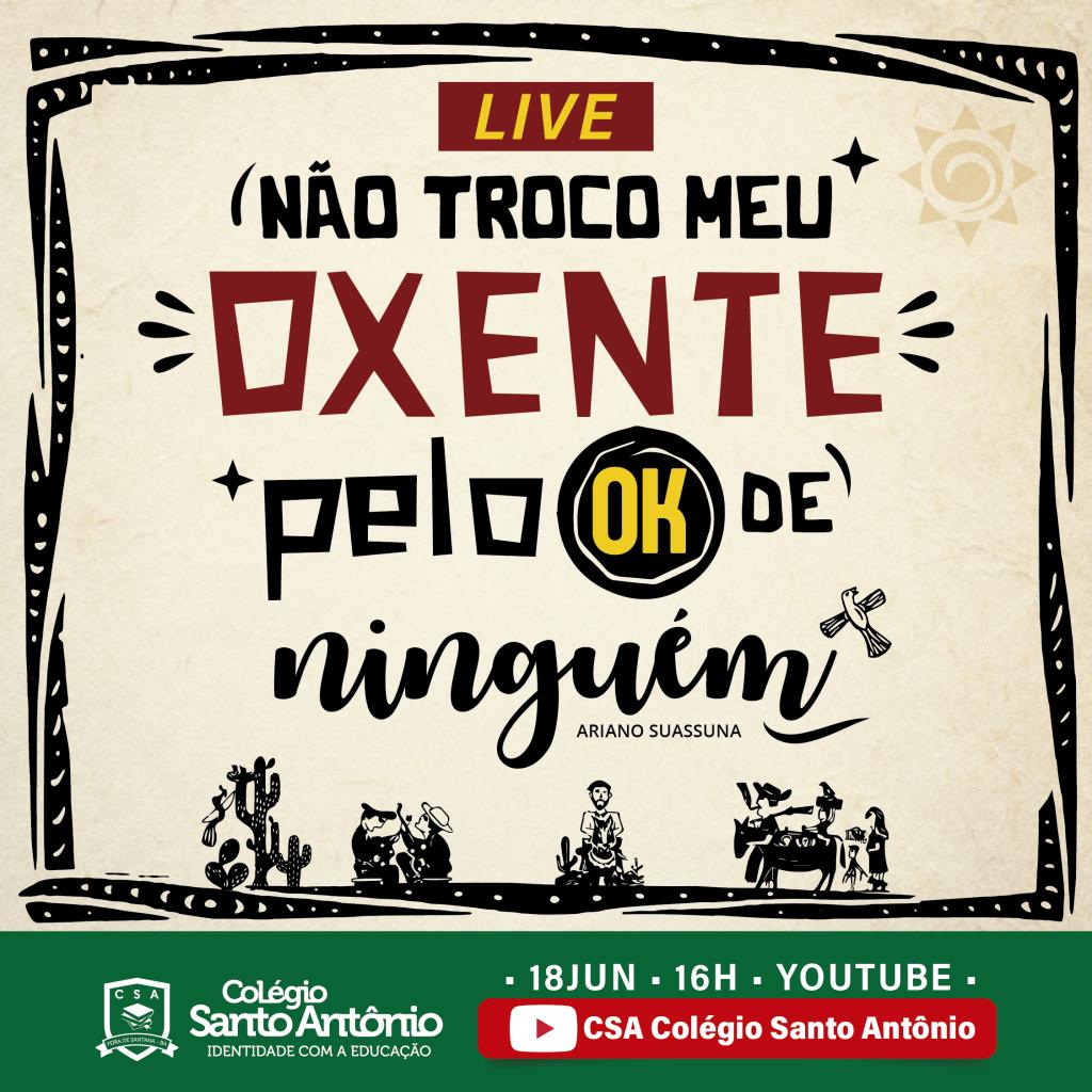 """Live: Não Troco Meu Oxente Pelo """"Ok"""" de Ninguém!"""